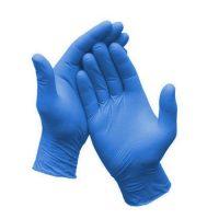 """Blue Nitrile púdermentes eldobható gumikesztyű kék színben 200db-os """"S"""" méret"""