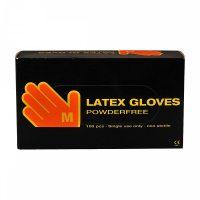"""Egyszerhasználatos  Latex gumikesztyű púdermentes Fehér """"M"""" méret 100 db / doboz"""