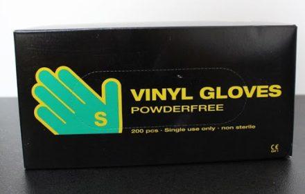 """Egyszerhasználatos Abena Vinyl gumikesztyű púdermentes Fehér """"S"""" méret   200 db / doboz"""