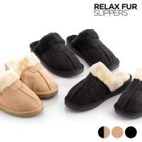Relax Fur Pihentető Szőrmepapucs  41 méret / fekete