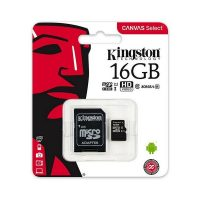 Kingston MicroSDHC 16GB Class 10 U1 +SD Adapter SDCS/16GB