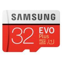 Samsung EVO Plus MicroSDXC 32GB Class 10 UHS-I U3 100/60MB/s +SD Adapter MB-MC32G 32 GB Piros Fehér