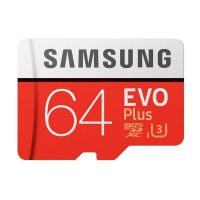 Samsung EVO Plus MicroSDXC 64GB Class 10 UHS-I U3 100/60MB/s +SD Adapter MB-MC64G 64 GB Piros Fehér