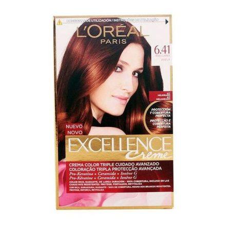 Tartós Hajfesték Excellence L'Oreal Make Up Mogyoró MOST 6596 HELYETT 4351 Ft-ért!
