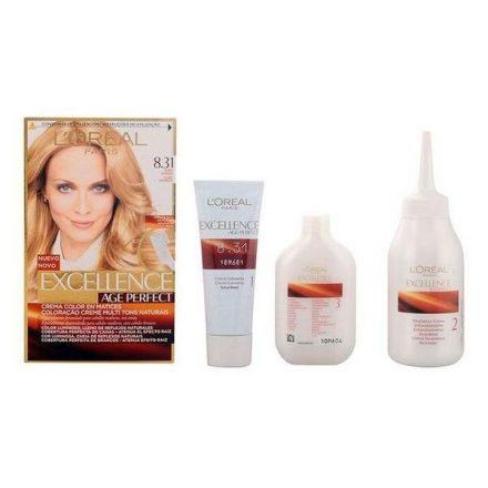 Tartós Öregedésgátló Hajfesték Excellence Age Perfect L'Oreal Make Up Aranyszőke MOST 6596 HELYETT 4457 Ft-ért!