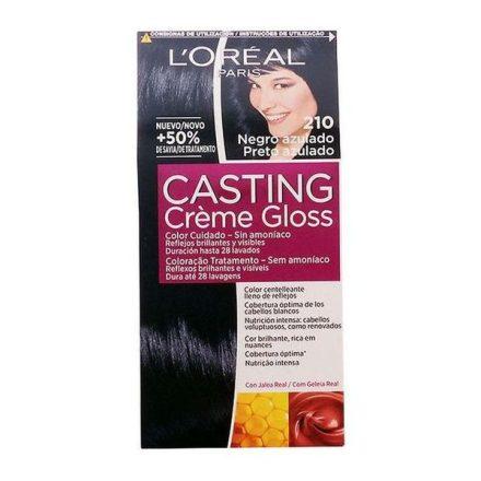Ammóniamentes Hajfesték Casting Creme Gloss L'Oreal Make Up Kékesfekete MOST 6596 HELYETT 4167 Ft-ért!