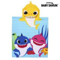 Poncsó Törölköző Kapucnival Baby Shark Sárga (50 x 115 cm)