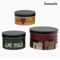 Dekoratív doboz Homania 2687 (3 pcs) Kör alakú MOST 10876 HELYETT 3677 Ft-ért!