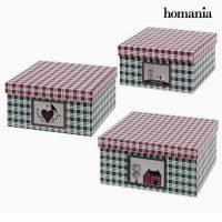 Dekoratív doboz Homania (3 uds) Préselt Papír MOST 5191 HELYETT 2523 Ft-ért!