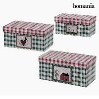 Dekoratív doboz Homania (3 uds) Préselt Papír MOST 4574 HELYETT 2565 Ft-ért!