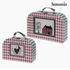 Bőrönd készlet Homania 7840 (2 uds) Karton MOST 8486 HELYETT 4762 Ft-ért!