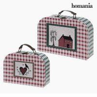 Bőrönd készlet Homania (2 uds) Préselt Papír MOST 8486 HELYETT 4762 Ft-ért!