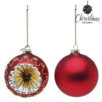 Karácsonyi díszek Christmas Planet 1662 8 cm (2 uds) Kristály Piros MOST 2934 HELYETT 1928 Ft-ért!