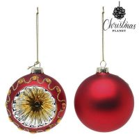 Karácsonyi díszek Christmas Planet 1662 8 cm (2 uds) Kristály Piros MOST 5467 HELYETT 2313 Ft-ért!