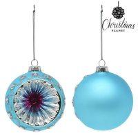 Karácsonyi díszek Christmas Planet 1693 8 cm (2 uds) Kristály Kék MOST 2579 HELYETT 2360 Ft-ért!
