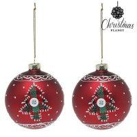 Karácsonyi díszek Christmas Planet 1785 8 cm (2 uds) Kristály Piros MOST 6436 HELYETT 2176 Ft-ért!