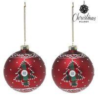 Karácsonyi díszek Christmas Planet 1785 8 cm (2 uds) Kristály Piros MOST 4247 HELYETT 1798 Ft-ért!