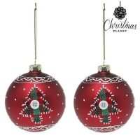 Karácsonyi díszek Christmas Planet 1785 8 cm (2 uds) Kristály Piros MOST 4667 HELYETT 2622 Ft-ért!
