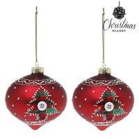 Karácsonyi díszek Christmas Planet 1792 8 cm (2 uds) Kristály Piros MOST 3096 HELYETT 1968 Ft-ért!