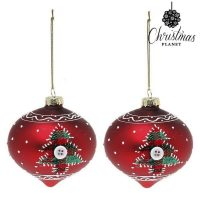 Karácsonyi díszek Christmas Planet 1792 8 cm (2 uds) Kristály Piros MOST 4667 HELYETT 2622 Ft-ért!