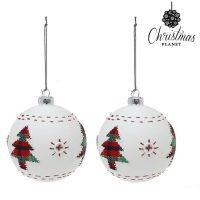 Karácsonyi díszek Christmas Planet 1860 8 cm (2 uds) Kristály Fehér MOST 4574 HELYETT 2565 Ft-ért!