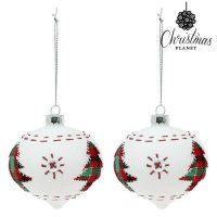 Karácsonyi díszek Christmas Planet 2003 8 cm (2 uds) Kristály Fehér MOST 4574 HELYETT 2565 Ft-ért!