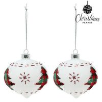 Karácsonyi díszek 8 cm (2 uds) Kristály Fehér MOST 4574 HELYETT 2565 Ft-ért!