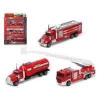 Autó készlet Tűzoltó férfi Piros 110899 (3 Pcs)
