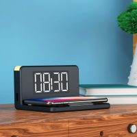 Alarm Clock with Wireless Charger Qi Fekete MOST 22605 HELYETT 14765 Ft-ért!