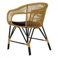 градински стол DKD Home Decor Fém Rattan (51 x 61 x 81 cm) MOST 96425 HELYETT 79724 Ft-ért!