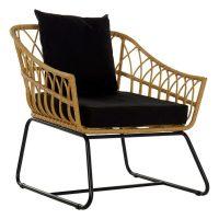 градински стол DKD Home Decor Fém Rattan (76 x 58 x 80 cm) MOST 111997 HELYETT 92608 Ft-ért!
