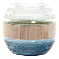 Váza DKD Home Decor Kék Menta Fa Kristály modern (25 x 25 x 22 cm) MOST 43621 HELYETT 32825 Ft-ért!