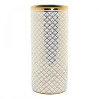 поставка за чадъри DKD Home Decor Fehér Porcelán Dirado (21 x 21 x 46.5 cm) MOST 35951 HELYETT 22868 Ft-ért!