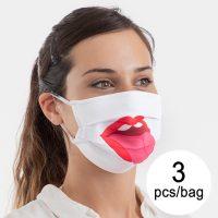 Újra használható higiénikus maszk Tongue Luanvi Méret M (3 Darab) MOST 16540 HELYETT 4571 Ft-ért!