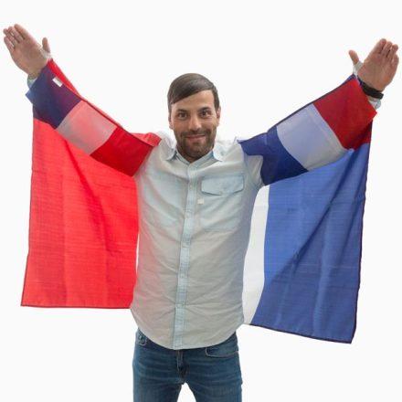 Francia Zászló Köpeny  V0000222-B