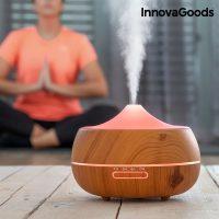 InnovaGoods LED Wooden-Effect Párásító Aroma Diffúzor MOST 27425 HELYETT 13082 Ft-ért!