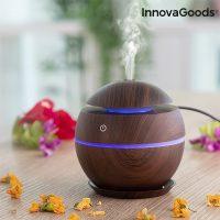 Mini aroma diffúzor párásító Dark Walnut InnovaGoods MOST 23859 HELYETT 6902 Ft-ért!