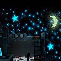Univerzum Fluoreszkáló Hold és Csillagok (15 db)